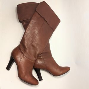 Steve Madden brown leather Heidie boots size 9.5